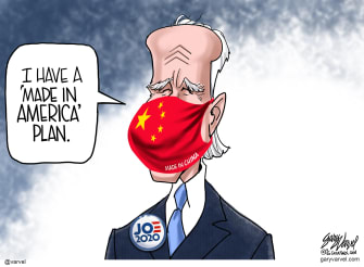 Political Cartoon U.S. Biden China made in USA