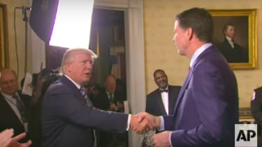 Trump meets with former FBI Director James Comey in January.
