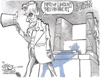 Political Cartoon U.S. gop lincoln