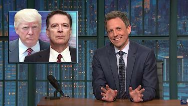 Seth Meyers laughs at Trump v Comey