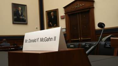 Don McGahn's empty chair.