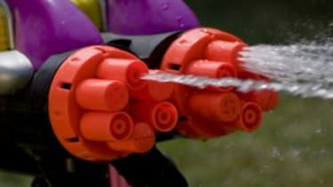 Water guns vs. firearms
