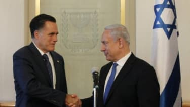 Mitt Romney meets with Israel's Prime Minister Benjamin Netanyahu in Jerusalem on July 29: Romney's foreign tour, which included a stop in Israel, seemed to highlight his potential inability