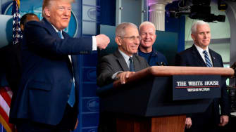 Trump and Dr. Anthony Fauci