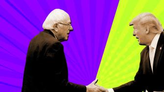 President Trump and Bernie Sanders.