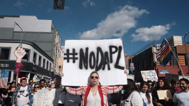 An anti-DAPL protester.