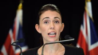 New Zealand Prime Minister Jacinta Arnden at press conference