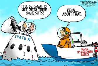 Editorial Cartoon U.S. SpaceX coronavirus