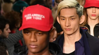 Models walk the runway for the Public School collection during, New York Fashion Week.