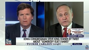 Tucker Carlson asks Rep. Steve King about his racist tweet