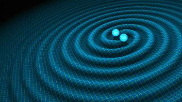 An artist's interpretation of gravitational waves