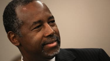 Republican presidential candidate and retired neurosurgeon Ben Carson