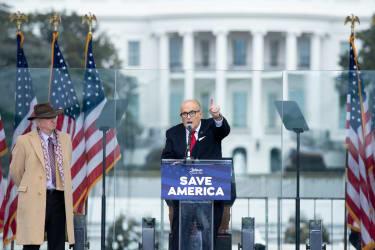Giuliani at a Trump rally