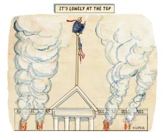 Political Cartoon U.S. Trump White House scandals