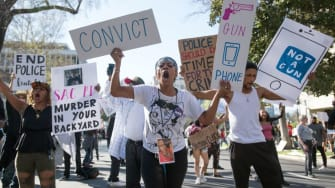 Stephon Clark protest.