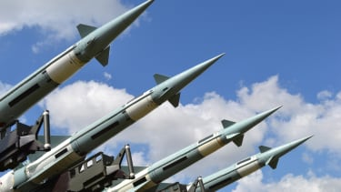 Military missiles.