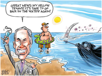 Editorial Cartoon U.S. texas abbott covid mask mandate