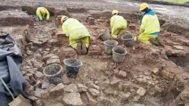 Archaeologists at the site