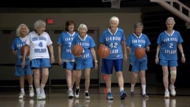 Members of the San Diego Splash basketball team.