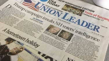 The front-page editorial in the 'Union Leader'