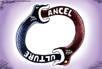 Editorial Cartoon U.S. cancel culture gop democrats