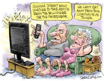 Editorial Cartoon U.S. coronavirus Trump Fauci Gilligans Island