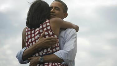 """On Nov. 6, President Obama tweeted out this photo with the message """"Four more years."""" It was retweeted more than 800,000 times."""