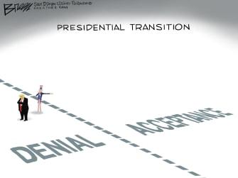 Political Cartoon U.S. Trump election loss denial