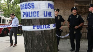 Investigation of a shooting at a Bronx hospital