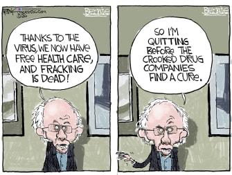 Political Cartoon U.S. Bernie Sanders coronavirus socialism