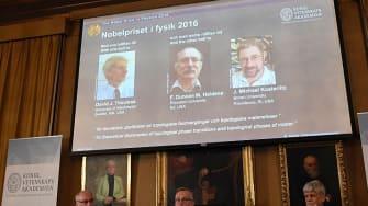 The Royal Swedish Academy of Sciences announces 2016 Nobel physics laureates