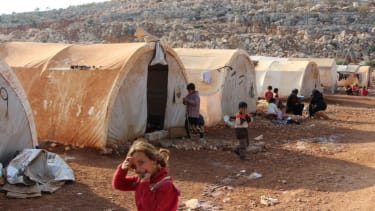 Displaced people in Syria.