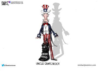 Political Cartoon U.S. Biden policies