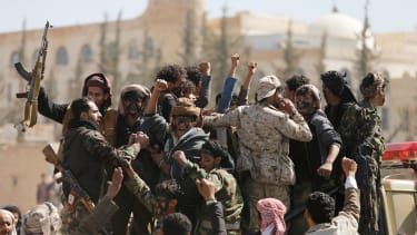 Newly recruited Houthi fighters head to the battlefront in Yemen on Jan. 19, 2017.