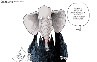Political Cartoon U.S. gop biden stimulus