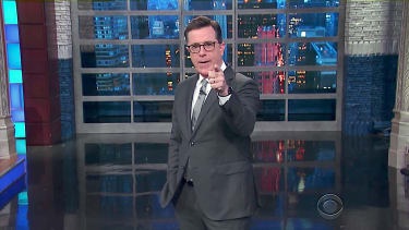 Colbert points the finger at Russia