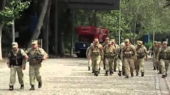 Special forces officers in Georgia are hunting escaped zoo animals