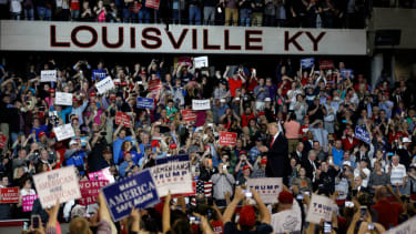 A Trump rally in Louisville, Kentucky