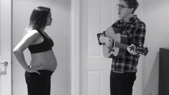 Tom Fletcher's charming video of his pregnant wife is much better than yours, dads
