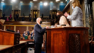 Joe Biden, Kamala Harris, and Nancy Pelosi.
