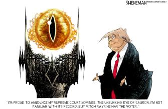 Political Cartoon U.S. Trump SCOTUS Sauron Lord of the Rings