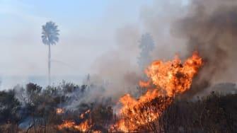 The fire in Ventura County, California.