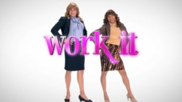"""Unemployed male friends score jobs by dressing as women in ABC's new lowbrow comedy """"Work It."""""""