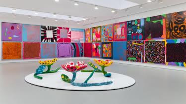 Installation view, Yayoi Kusama