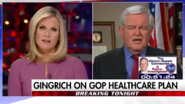 Newt Gingrich expresses his irritation with the CBO on Fox News.