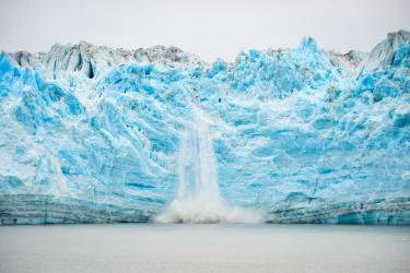 Glacier melting.