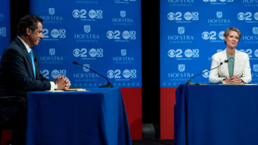 Andrew Cuomo and Cynthia Nixon.