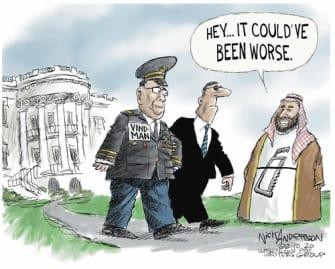 Political Cartoon U.S. Vindman Ukraine White House firing
