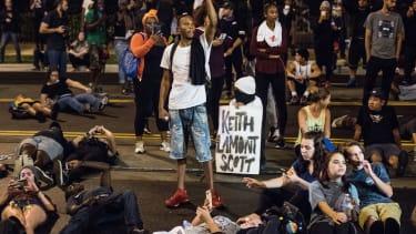 Demonstrators in Charlotte, N.C.