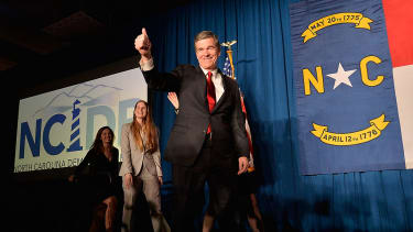 Governor-elect Roy Cooper of North Carolina may have his hands tied